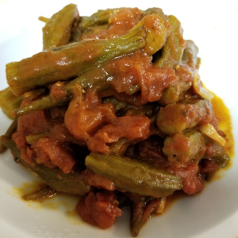 Bamiyeh A Syrian Vegan Main Dish made of okra