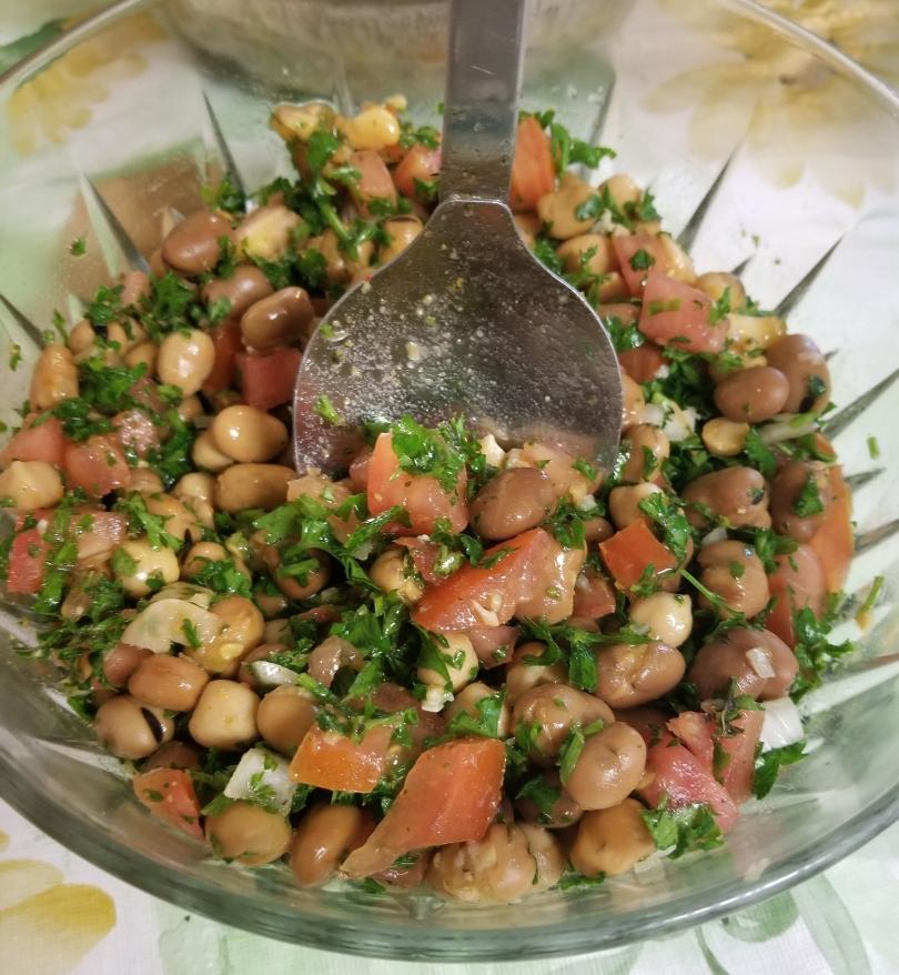 Fooll A Mediterranean bean salad